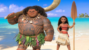 "Disney?'s animated movie ""?Moana,""? featured the voice of Dwayne ""The Rock"" Johnson as the demigod Maui, on the left. (Photo courtesy, Walt Disney Studios) ORG XMIT: RIV1611221245453841"