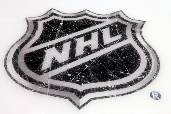 COLUMBUS, OH - JANUARY 24:  A general view of the NHL logo prior to the 2015 Honda NHL All-Star Skills Competition at the Nationwide Arena on January 24, 2015 in Columbus, Ohio.  (Photo by Bruce Bennett/Getty Images)